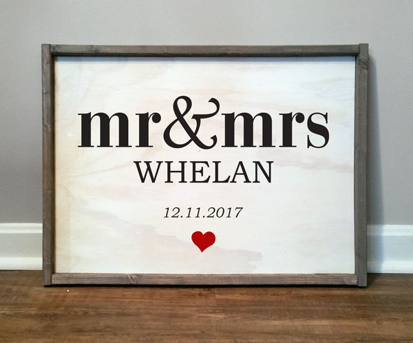 Mr & Mrs, personalized