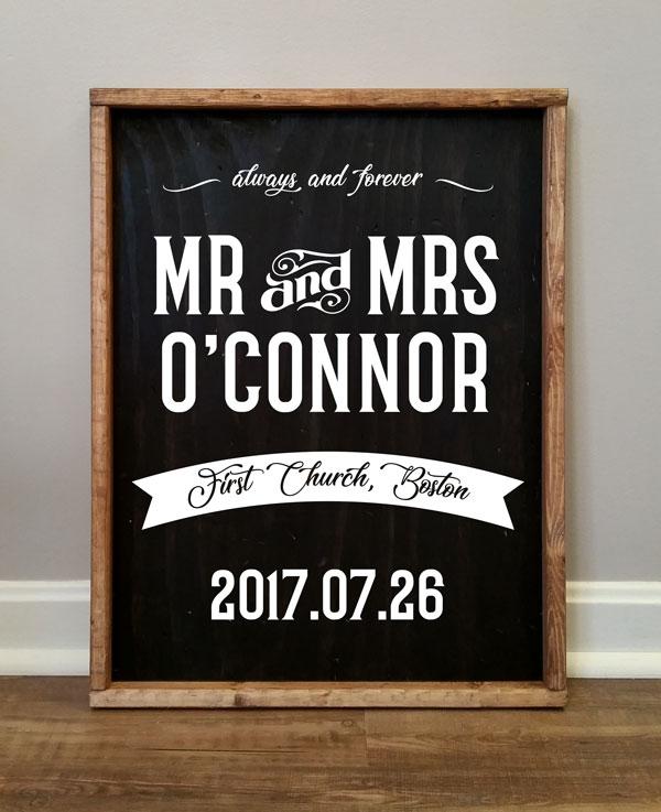 Mr & Mrs O'Connor, Personalized