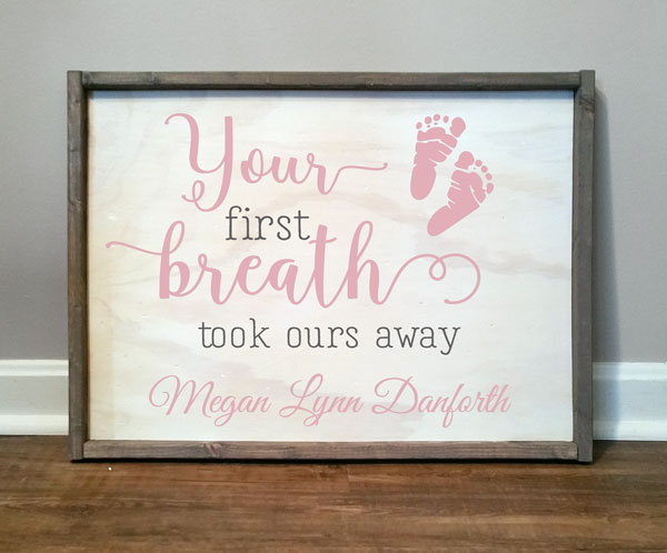 Your First Breath, personalized