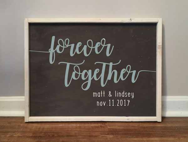 Forever Together, personalized