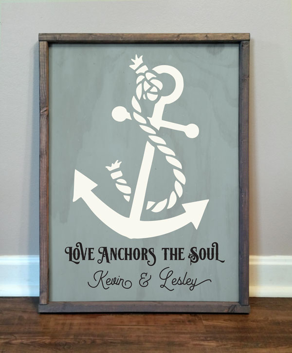 Love Anchors The Soul, personalized