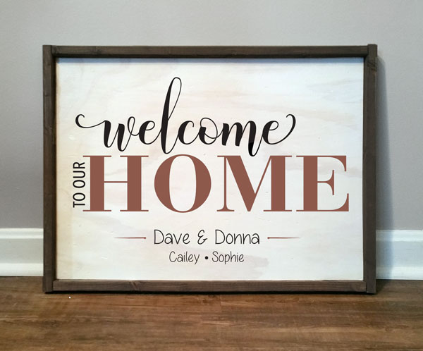 Welcome To Our Home, personalized
