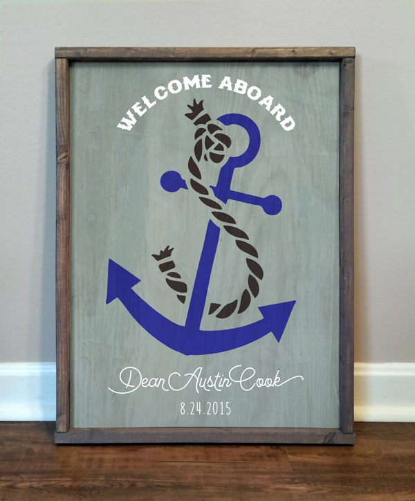 Welcome Aboard, personalized