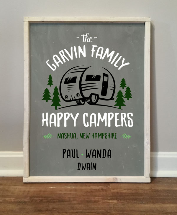 Happy Campers, personalized