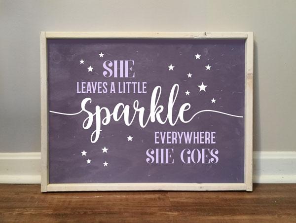 She Leaves a Sparkle