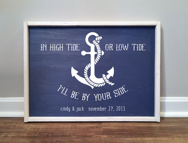 In Hi Tide or Low Tide, Personalized