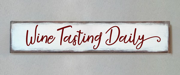 Wine Tasting Daily, Single Plank