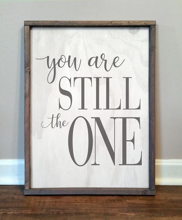 You Are Still The One