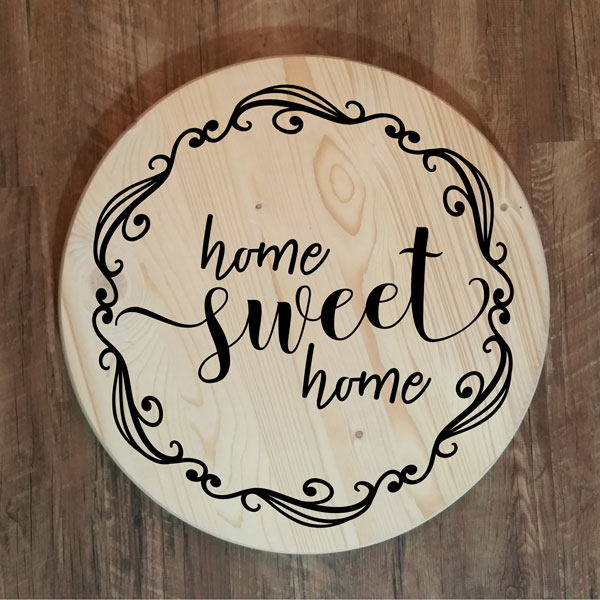 Home Sweet Home Round Tray or Lazy Susan
