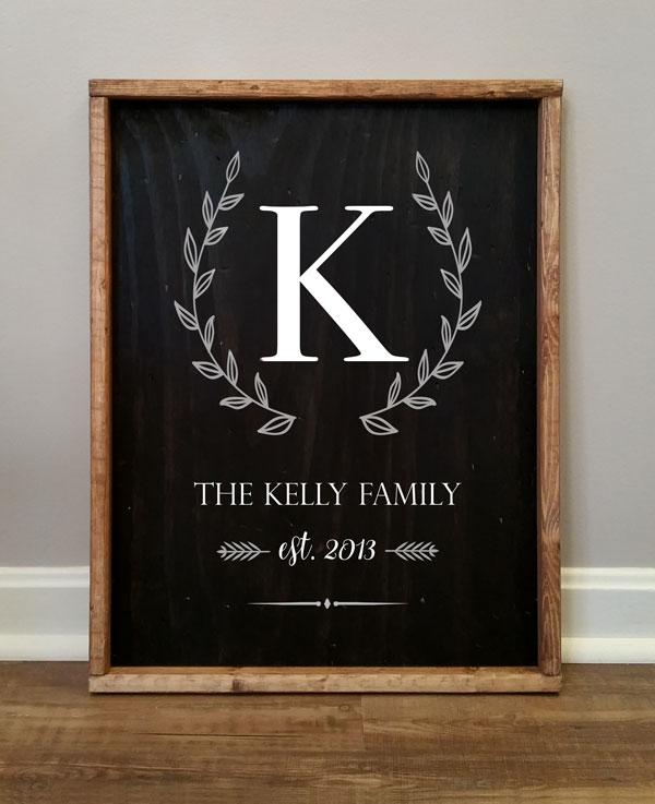 FamilyMonogram,Kelly, Personalize