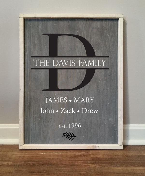 Split Monogram, Davis Family
