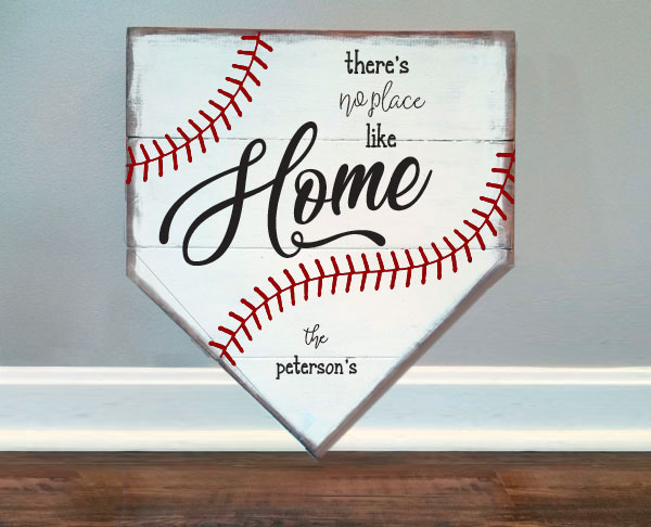 Baseball Home Plate, Peterson 19x18""