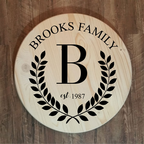 Brooks Family Monogram Round