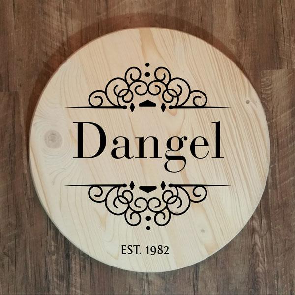 Dangel Last Name Round