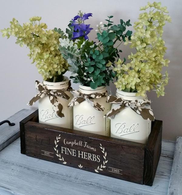 Fine Herbs, Mason Jar Box