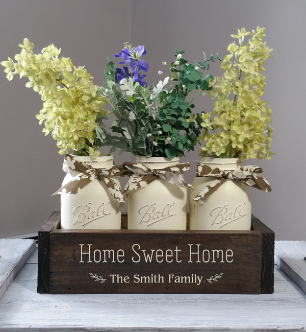 Home Sweet Home, Mason Jar Box