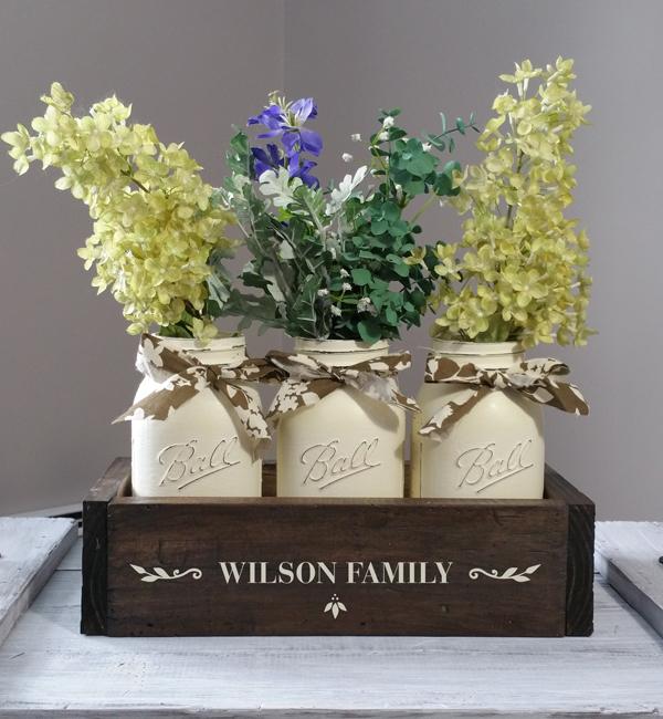 Wilson Family, Mason Jar Box