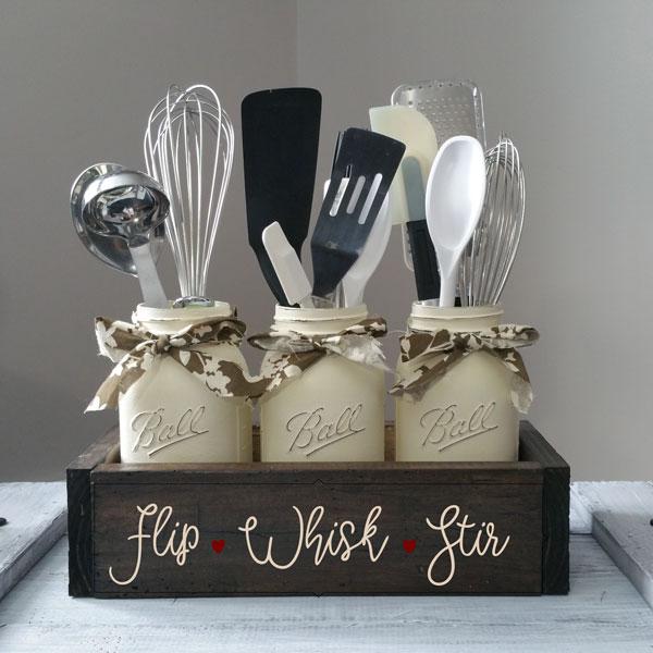 Flip Whisk Stir, Mason Jar Box
