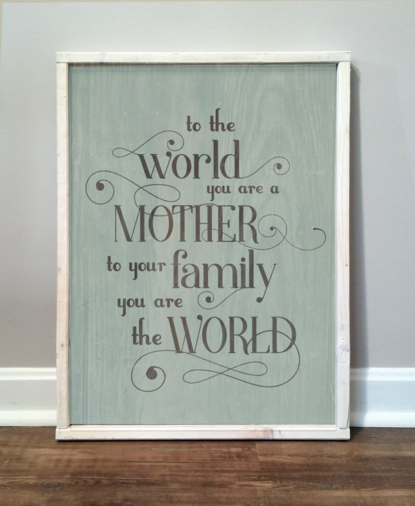 To The World–Mother