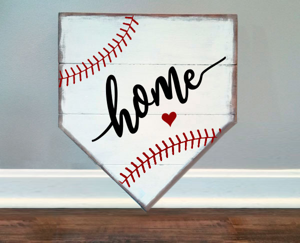 Baseball Home Plate-Heart