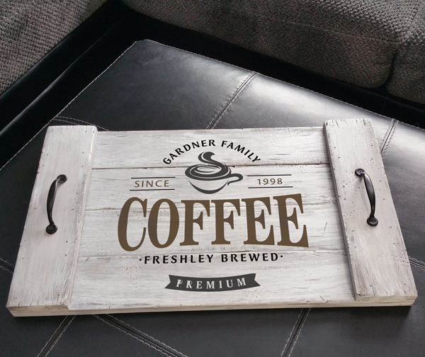 Gardner Family Coffee Tray