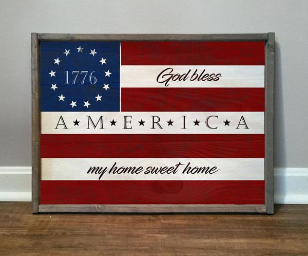 Flag 1776 God Bless
