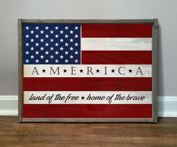 Flag Land Of The Free