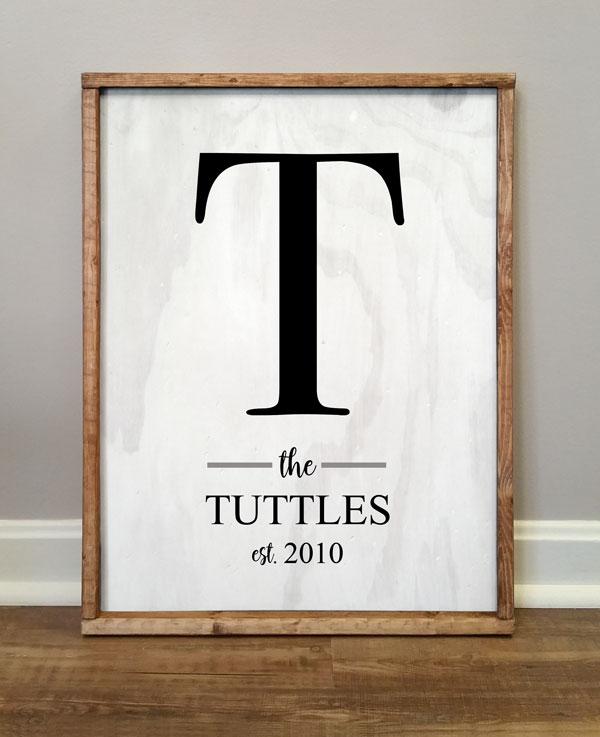 The Tuttles Family Monogram