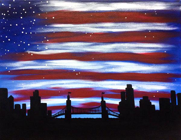 Patriotic Skyline