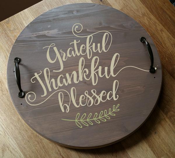 """Grateful Thankful 18"""" Round"""