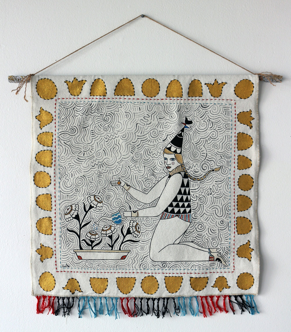 Tending Time Tapestry