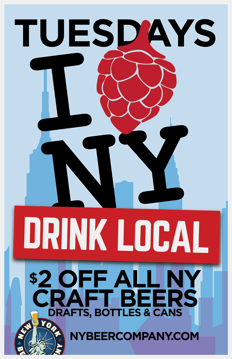 drink local new york beer specials