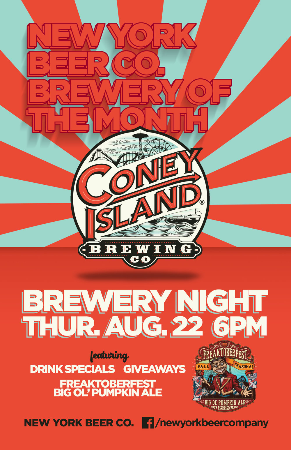 coney island brewery night