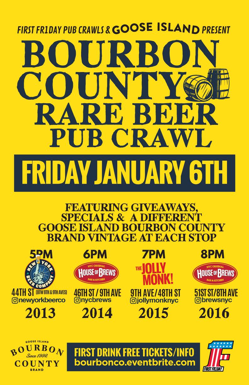 Bourbon County Rare Beer Pub Crawl — New York Beer Company