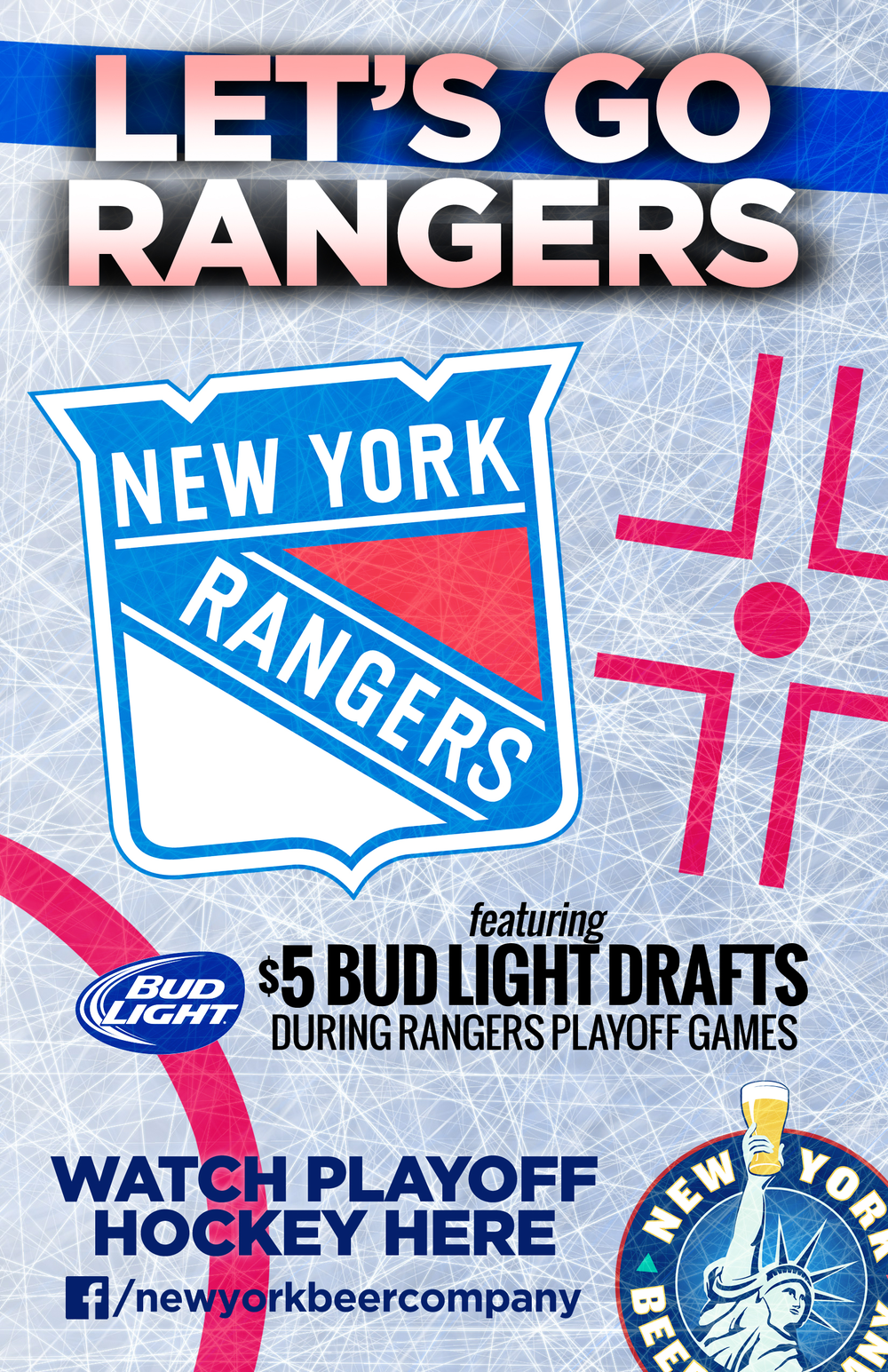 watch rangers nhl playoffs in NYC
