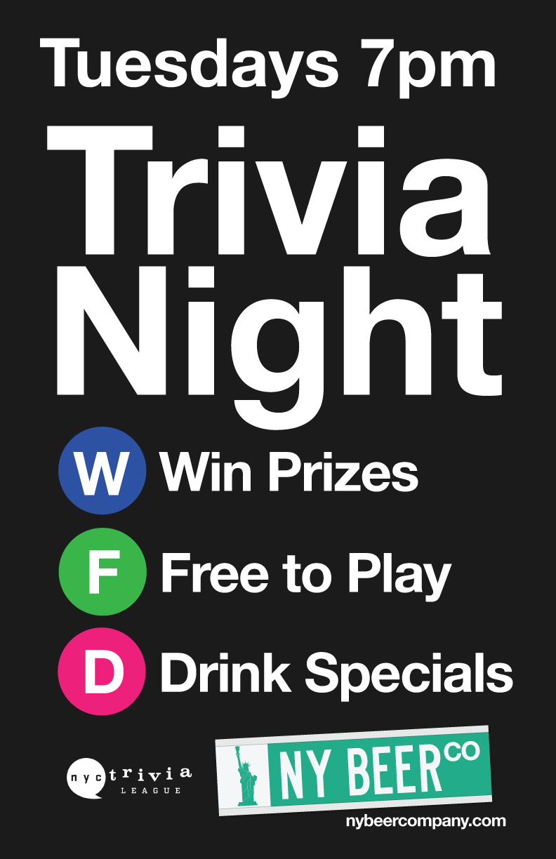 nyc tuesday trivia night