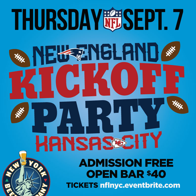 nyc bars nfl kickoff patriots