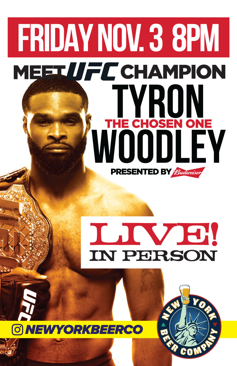 Ufc Champ Tyron Woodley Meet Greet In Nyc New York Beer Company