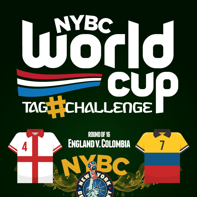 watch World Cup NYC - England vs. Columbia - Round 16