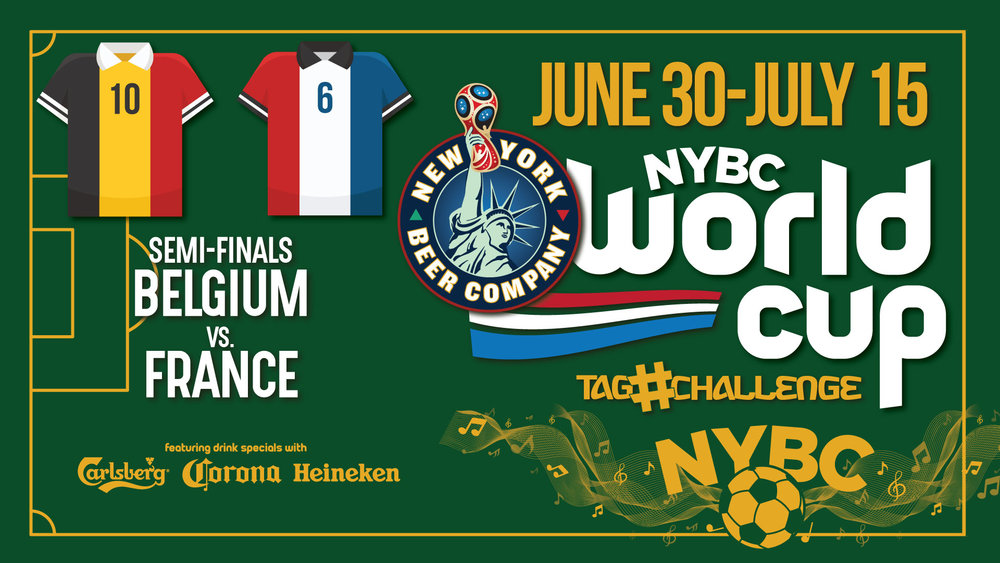NYC Bars - World Cup SEMIN FINALS - BEL-gium FRA-nce