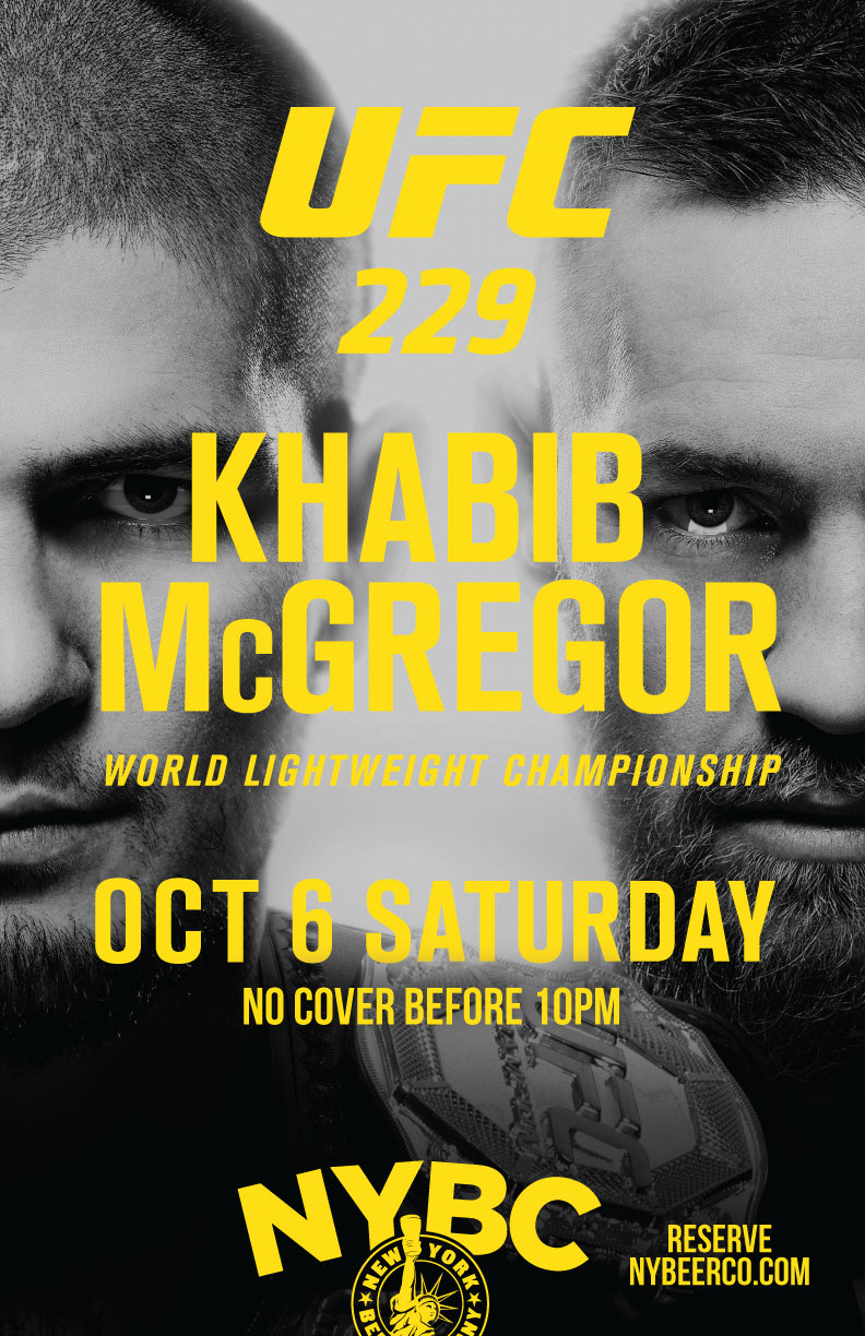 nyc bars showing ufc 229 free mcgregor