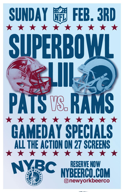 nyc bars super bowl patriots vs. rams
