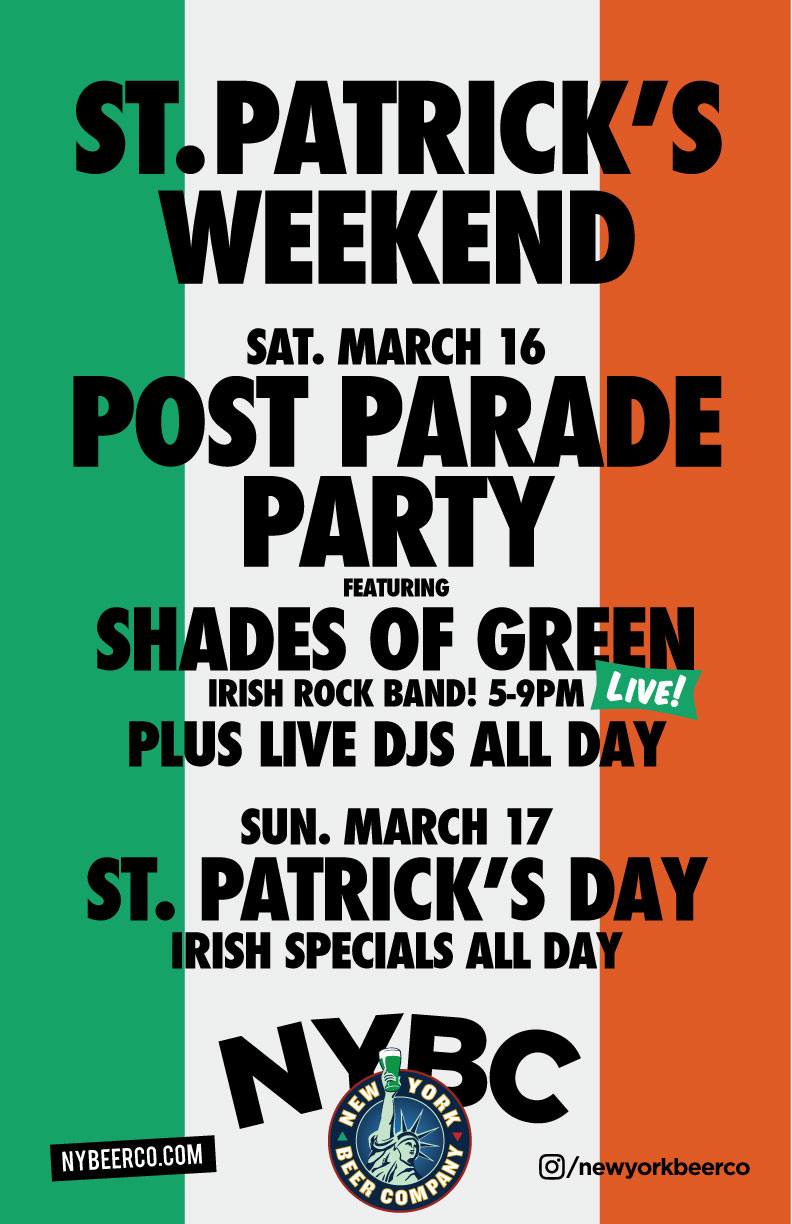 St. Patrick's Parade After Party NYC