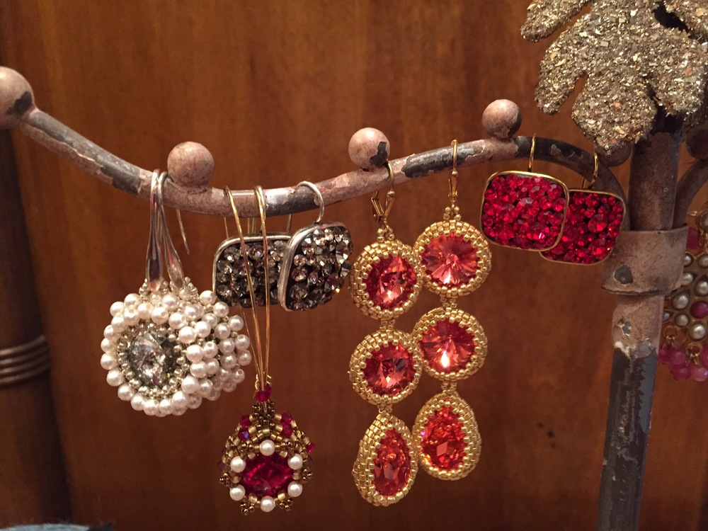 Hand-made in the California beaded and crystal accessories