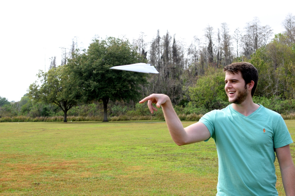 Look how awesome I am at flying this paper airplane. Obviously you can trust me to redesign your website.