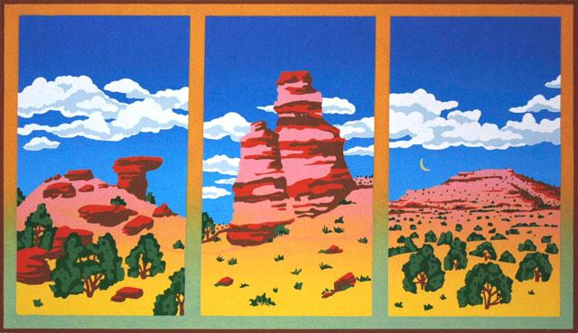 Postcard Triptych