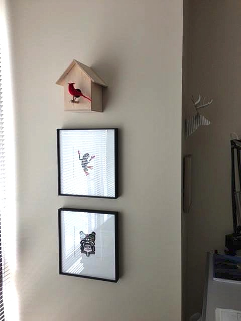 We are happy to see designer Sabina Hill using one of our birdhouses  - www.sabinahill.com