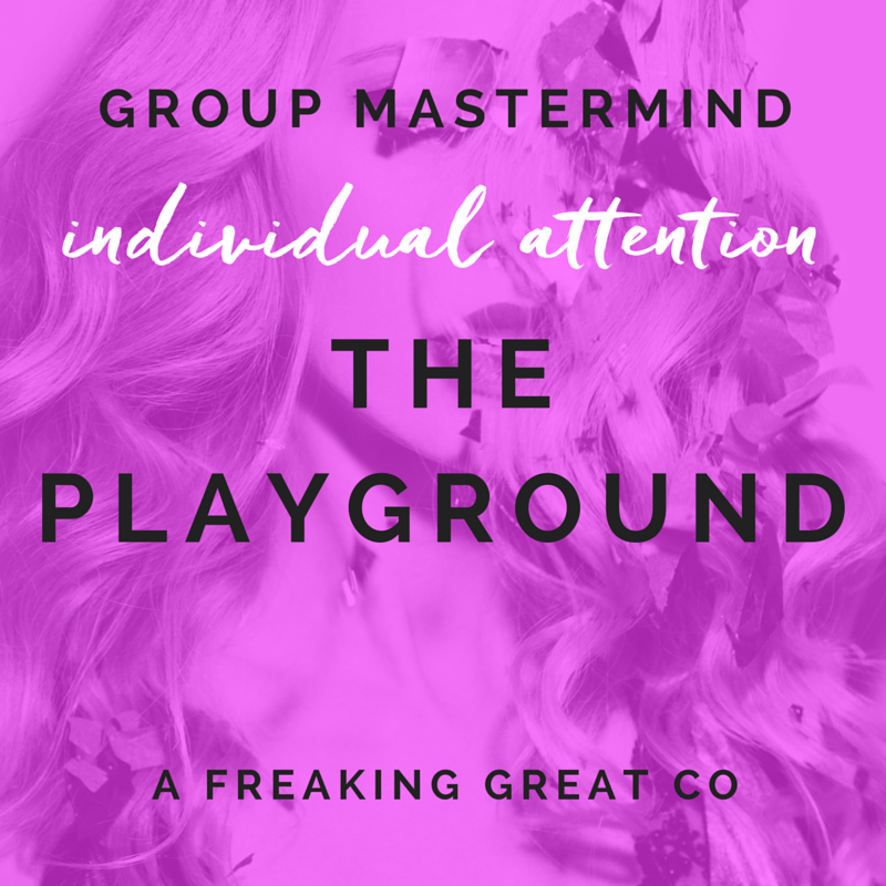 desiring individual attention + affordable support? apply for my mastermind, the playground.