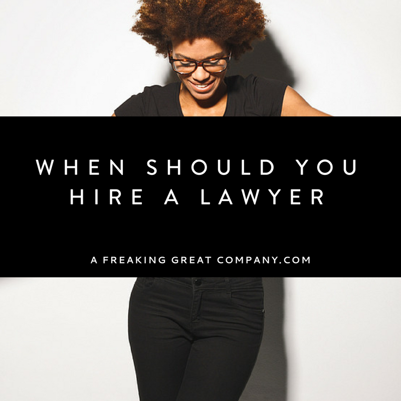 when should you hire a business lawyer