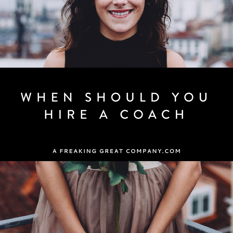 when should you hire a business coach